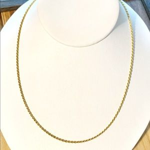 """Jewelry - Sterling silver 14k gold plated 18"""" necklace"""